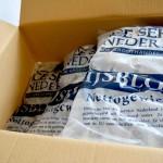 Ijsblokjes in 10 kg zakken in doos